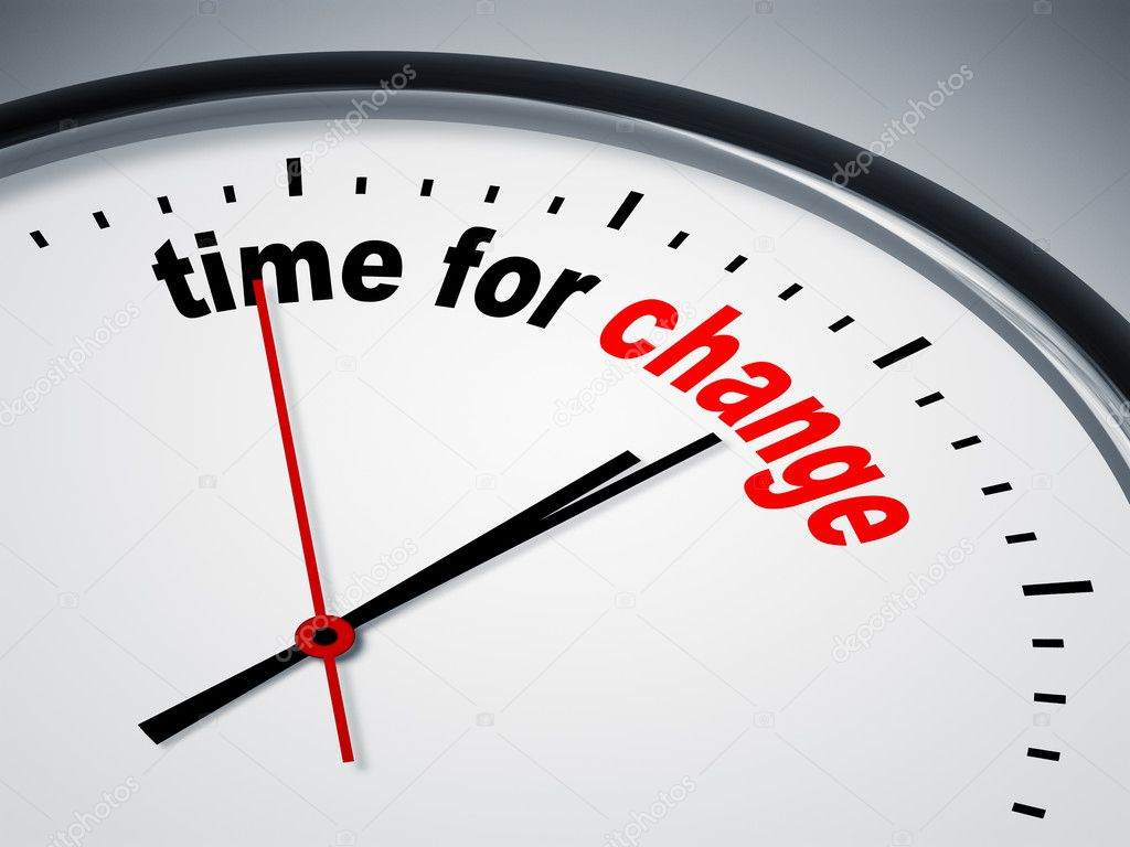 An image of a nice clock with time for change — Stock Photo #5830223