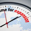 Time for expansion — Foto Stock