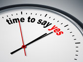 Time to say yes — Stock Photo