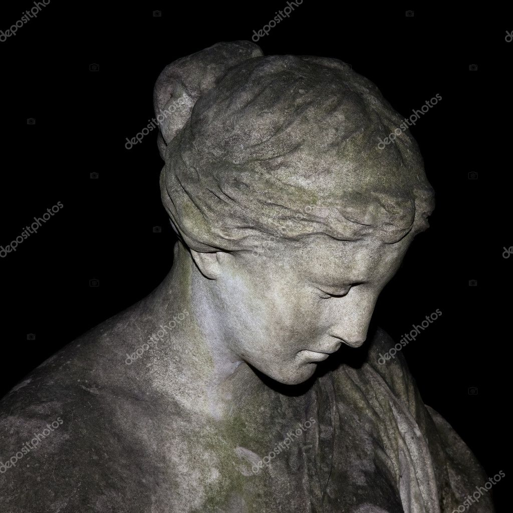 An image of a sad woman statue — Stock Photo #5846040