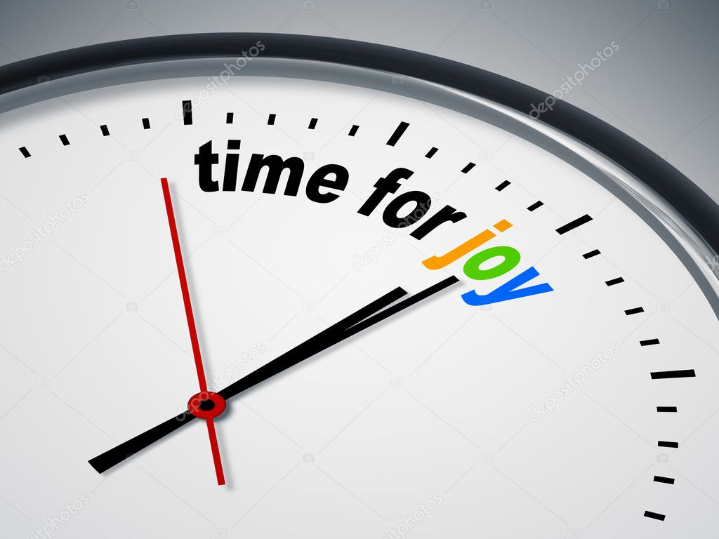 An image of a nice clock with time for joy — Stock Photo #5846042