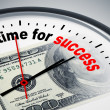 Stock Photo: Time for success
