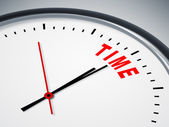 Time in red — Stock Photo