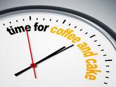 время для кофе и пирожные — Стоковое фото