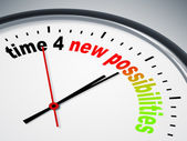 Time 4 new possibilities — Stock Photo
