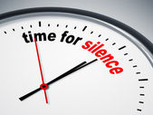 Time for silence — Stock Photo