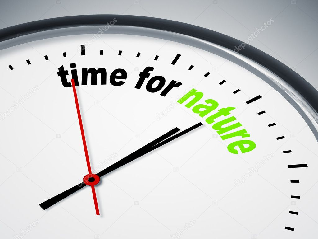 An image of a nice clock with time for nature  Stock Photo #5866834