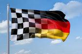 Flag germany formula1 — Stock Photo