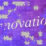 Инновации головоломка — Стоковое фото