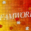 Stock Photo: Teamwork puzzle
