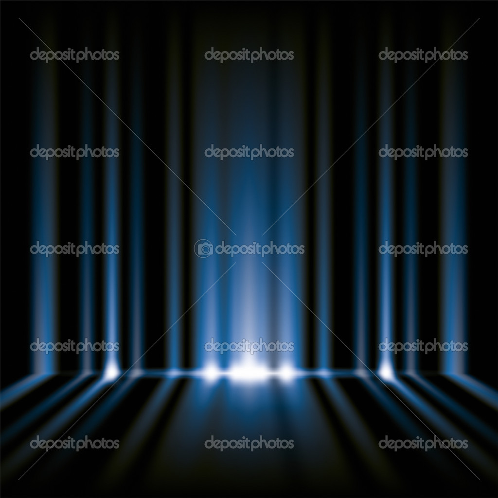 An image of a nice blue lights background  Stock Photo #6038998