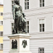 Mozart statue Salzburg - Stock Photo
