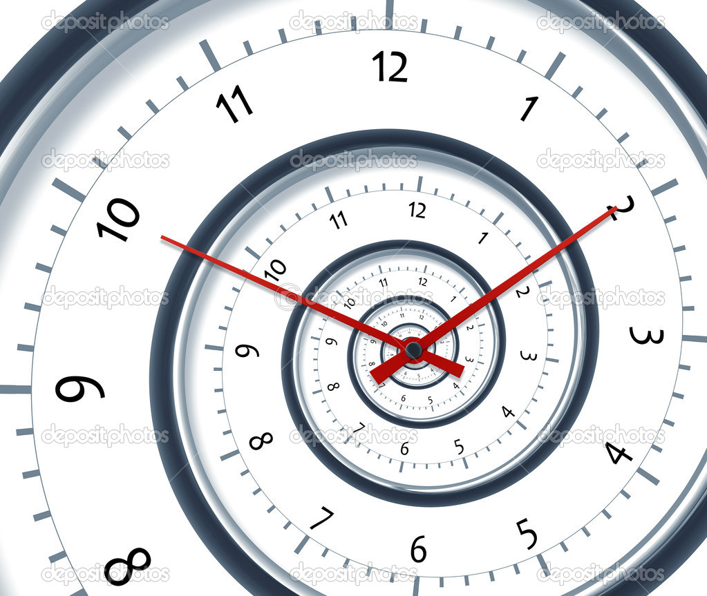 An image of a nice time spiral clock — Stock Photo #6110101