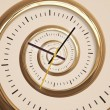 Droste spiral time - Stock Photo