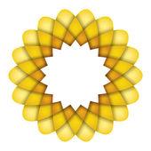 Yellow flower graphic — Stock Photo