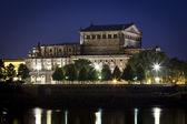Semper Oper by night — Stock Photo