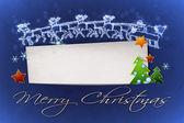 Blaue weihnachten — Stockfoto