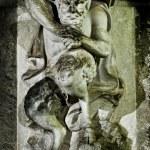 Satyr socha Drážďany — Stock fotografie