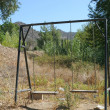 Old empty swing — Foto de Stock
