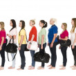 Girls in a line — Stock Photo #5385628