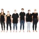 kızlarla koruyucu maskeler — Stok fotoğraf