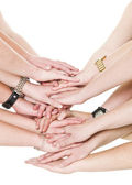 Large group of hands — Stock Photo