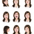 Royalty-Free Stock Photo: Nine portraits of a woman