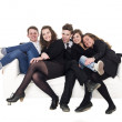 Group of in a sofa — Stock Photo