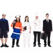 Group of with different occupation — Stock Photo