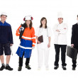 Royalty-Free Stock Photo: Group of with different occupation