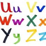 Letters U-Z in ink marker — Stock Photo