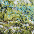 Green and blue rock crystals background - Stock Photo