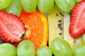 Fresh fruit mix background — Stock Photo