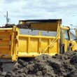 Yellow dump truck — Stock Photo