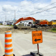 Stock Photo: Detour digging street