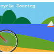 Bicycle touring — Stock Vector