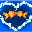 Royalty-Free Stock Vector Image: Goldfish love