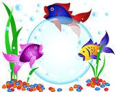 Fish advertisement — Stock Vector