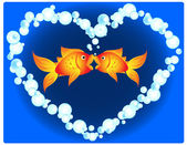 Goldfish love — Stock Vector