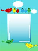 Bird advertisement — Stock Vector
