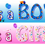 Boy girl announcement — Stock Vector #5982591
