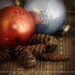 Grunge vintage Christmas ornament - Stock Photo