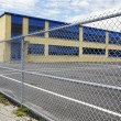 Stock Photo: Gated school playground