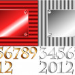 Corrugated 2012 plate with other numbers — Stock Vector