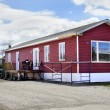 Stock Photo: New red mobile home