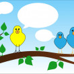 Bird chat — Stock Vector