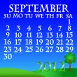 Royalty-Free Stock Vector Image: September 2012 landscape calendar