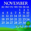 November 2012 landscape calendar — Stock Vector