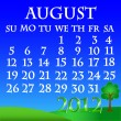 August 2012 landscape calendar — Stock Vector