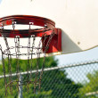 Inner city basketball basket — Stock Photo